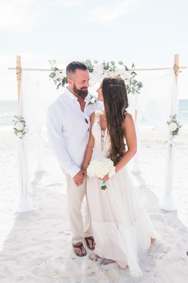 Tampa-wedding, Tampa-photographer, bride-and-groom-beach-wedding
