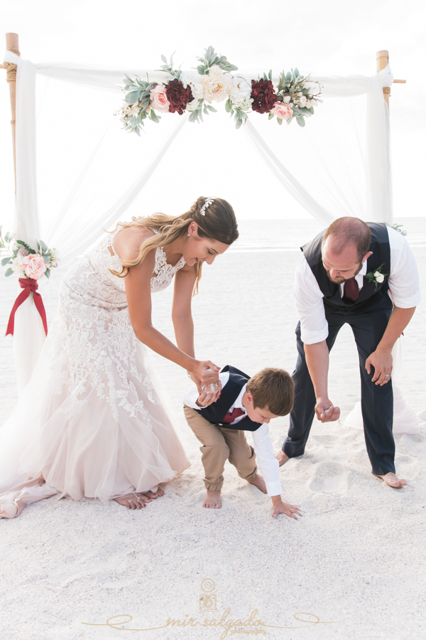 sand-ceremony, beach-wedding, Florida-beach-wedding