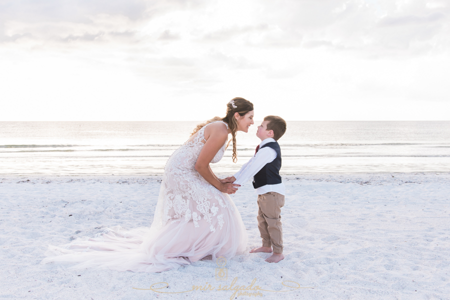 bride-and-son-photo, wedding-photo-bride-and-son, Pass-a-grille-beach-wedding