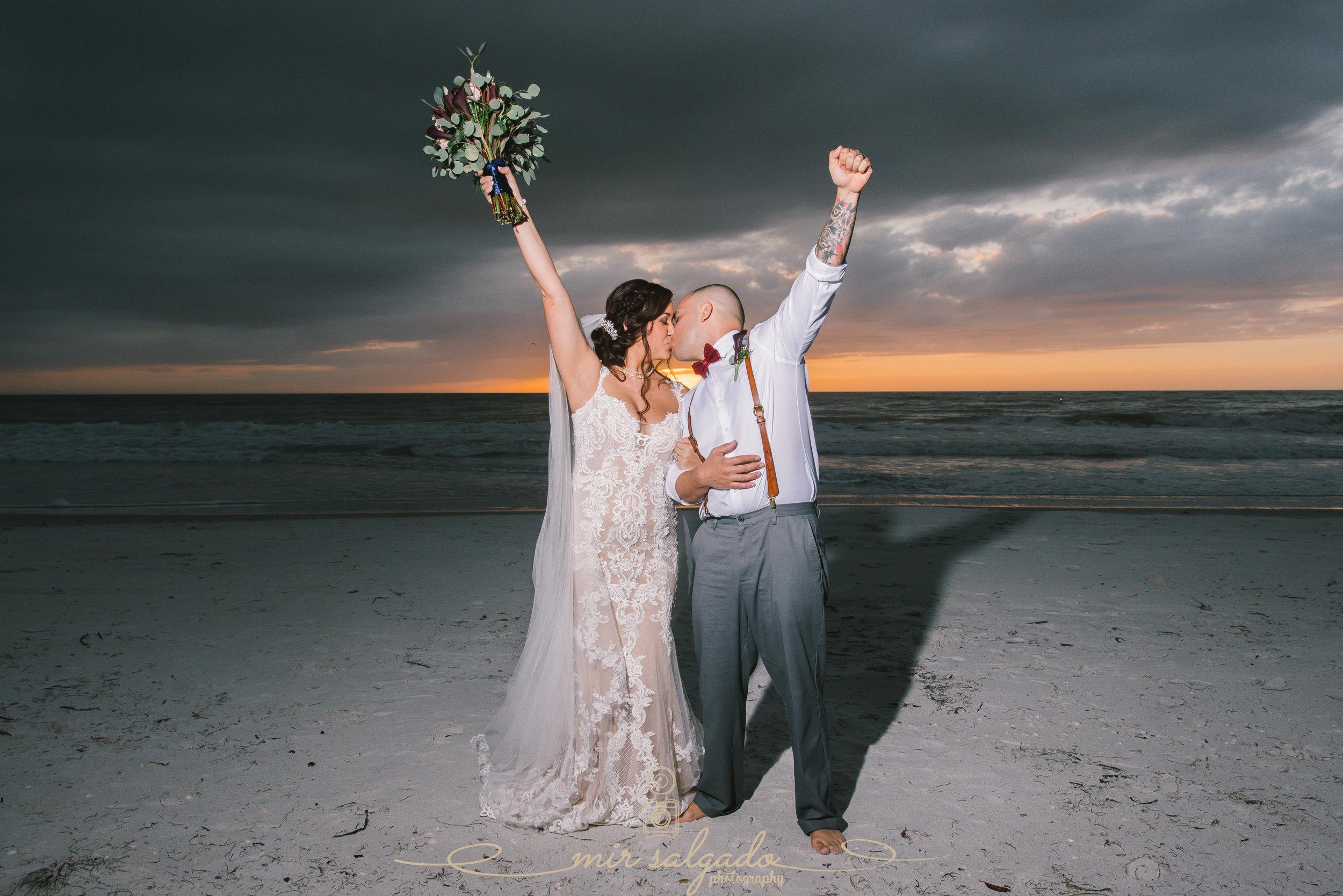 Sunset Beach wedding - Treasure Island, Fl