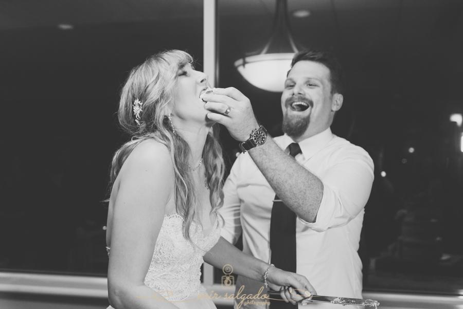 Bradenton-wedding-photographer, cake-cutting-funnny