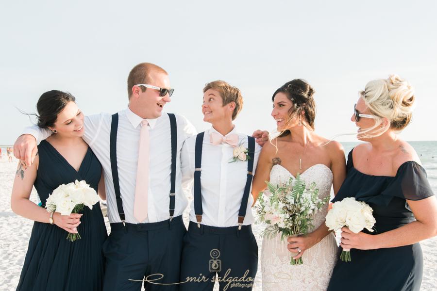 St.Pete-beach-wedding-photo, bridal-party-photo