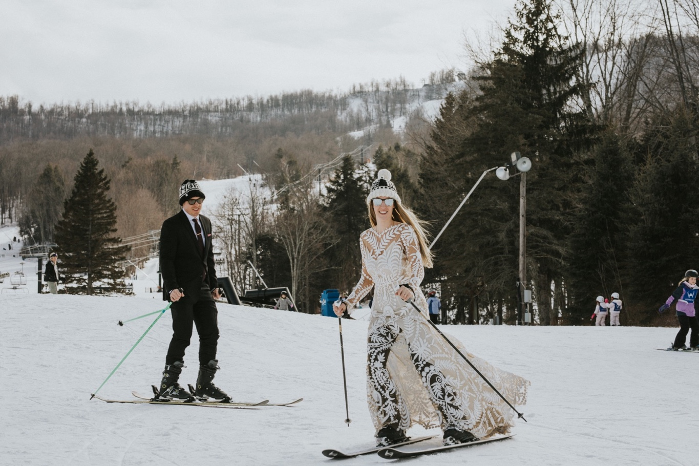 Windham Mountain, Windham Mountain Wedding, Hudson Valley Wedding Photographer, Rue De Seine, Ski Elopement