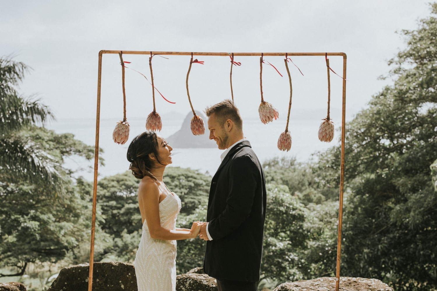 kualoa ranch, wedding at kualoa ranch, kualoa ranch wedding photographer, oahu wedding photographer, elopement at kualoa ranch, jurassic park wedding, destination wedding photographer, oahu elopement