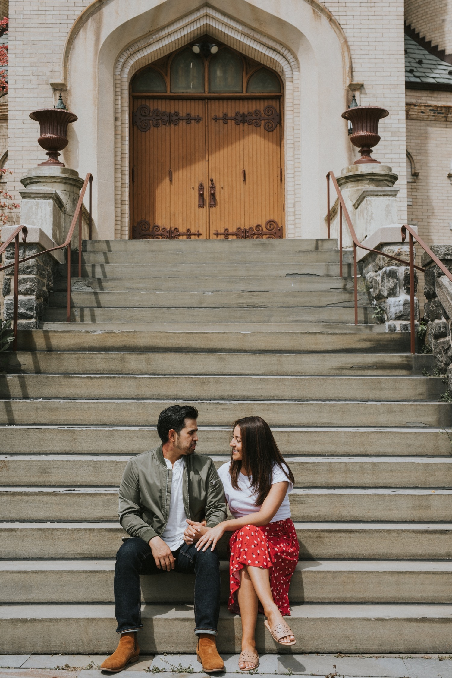 Hudson Valley Wedding Photographer, Hudson Valley Engagement Photographer, Port Chester Engagement Session, Capitol Theater, Lyons Park Engagement Session