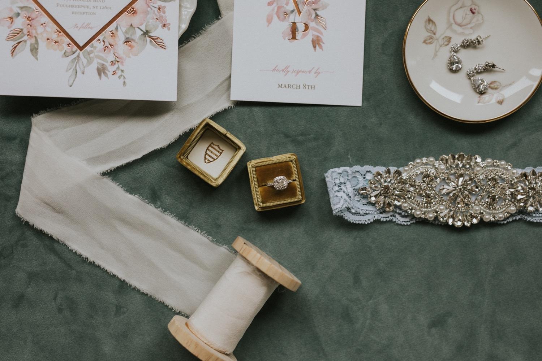 Hudson Valley Wedding Photographer, New York Wedding Photographer, The Grandview Poughkeepsie, Wedding Flat Lay, The Grandview Wedding Photographer, New York Wedding