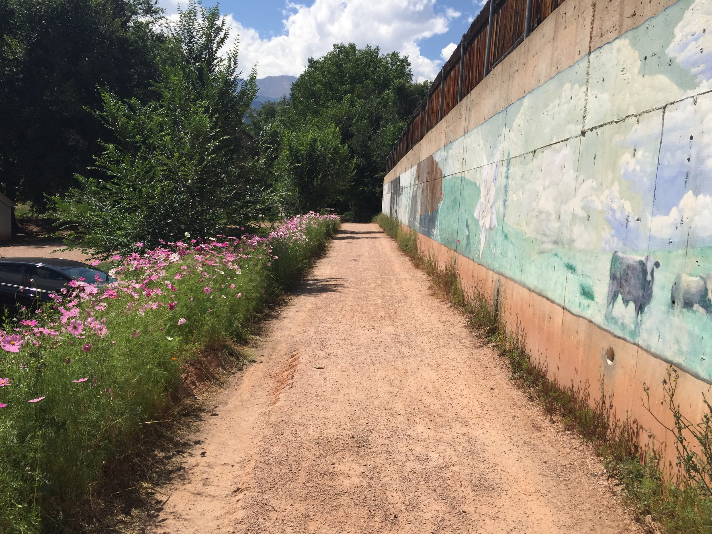 A portion of the existing but uncompleted Creekwalk in Manitou Springs.  Click on the picture for more information.
