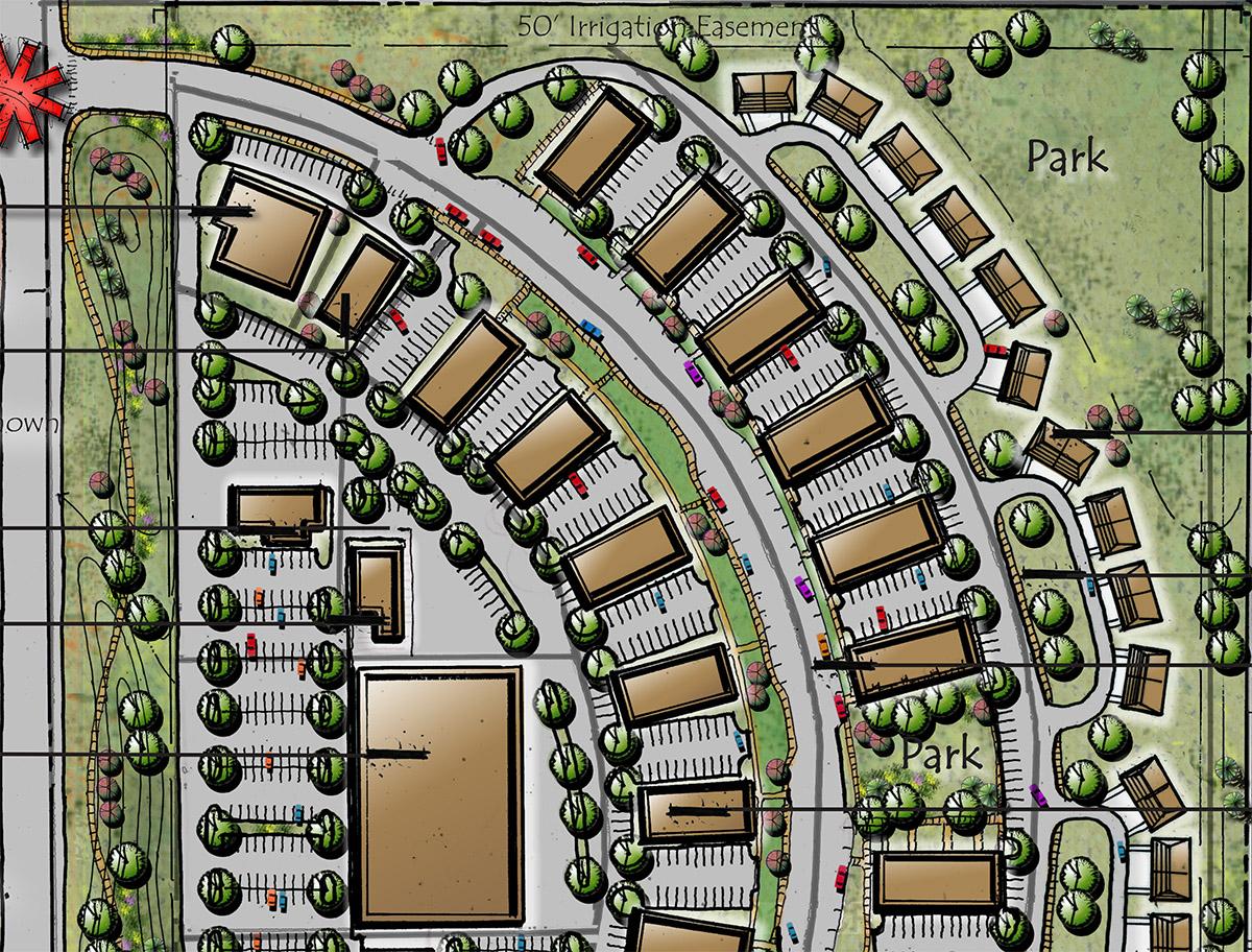 Moore Corner Conceptual Site Plan