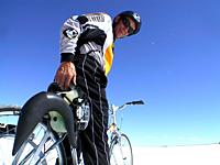 Biking Bonneville Salt Flats