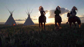 To help tell some history about Blackfeet warriors, we organized a re-enactment that included several riders in full regalia.