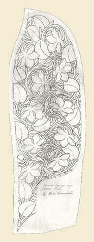 Copper Rose Pattern, Drawing by Harwood