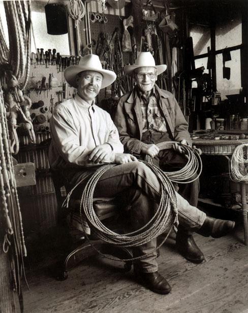 Randy Rieman and Bill Dorrance, Photo by Julie Chase Baldocchi