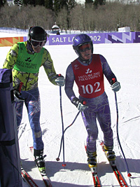 Paralympian Andy Parr with Coach and Guide, David Markey