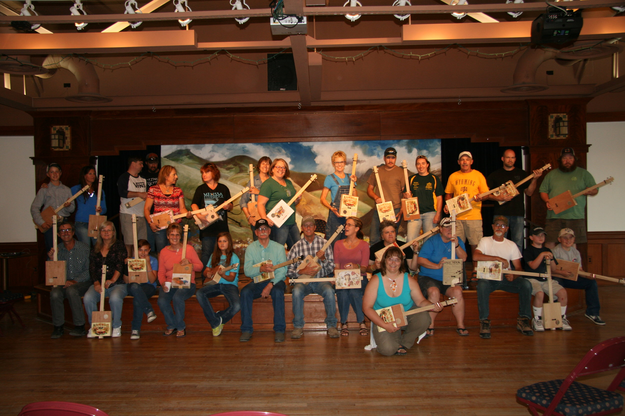 The 2015 Guitar-Box Guitar class at the Western Folklife Center