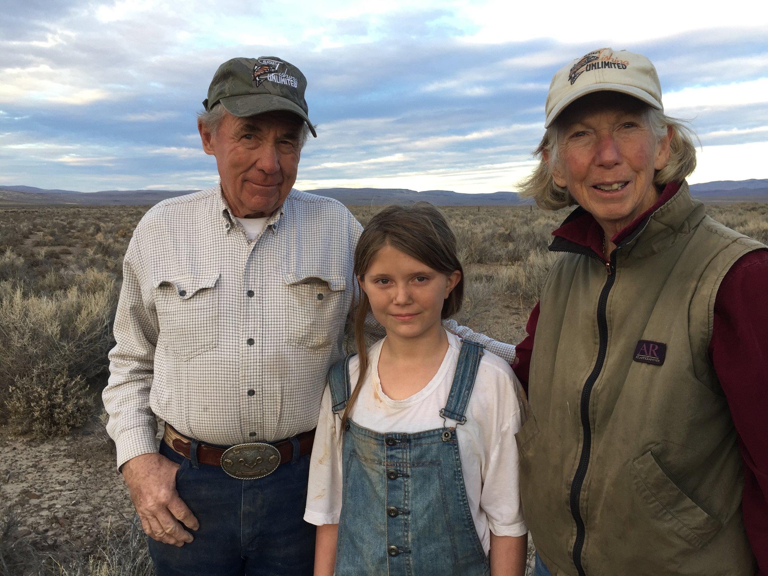 Poet Linda Hussa with Rylee Dickson and John Hussa