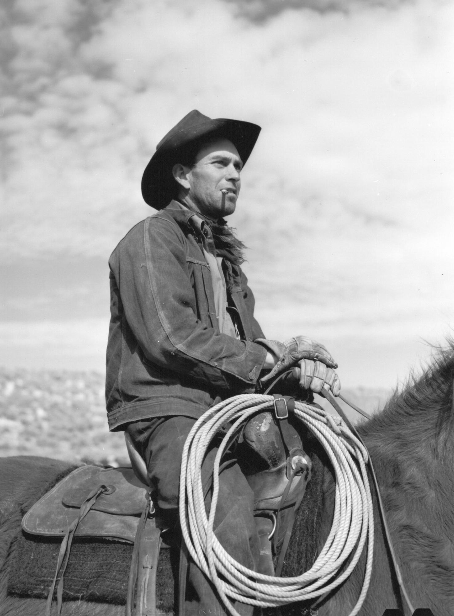 Cowhand. Elko County, Nevada. Arthur Rothstein, March 1940.
