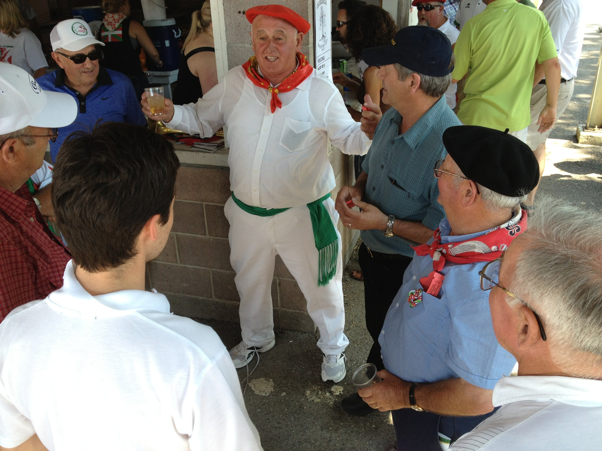 Bertsolaritza at the National Basque Festival, Elko, Nevada. Photo by Meg Glaser