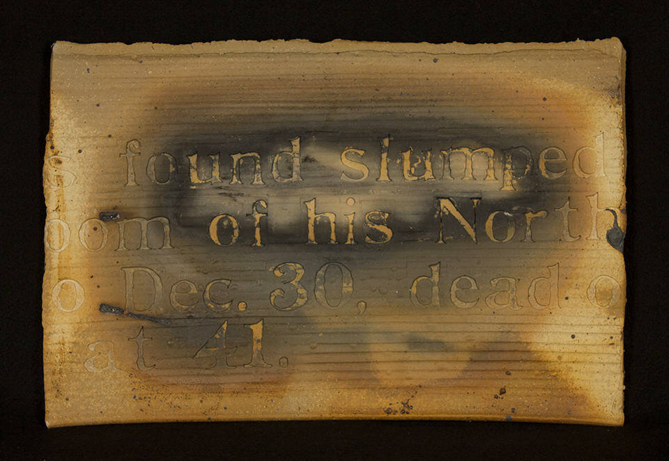 Poetry Plaque 2: purchase for $2,100 Stoneware (1978)