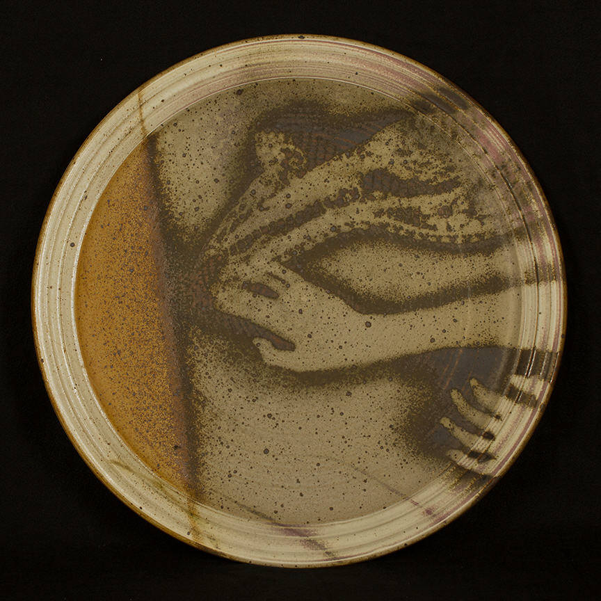 Platter - Desire Itself is Movement: purchase for $3,500 Stoneware (circa mid-1980s)
