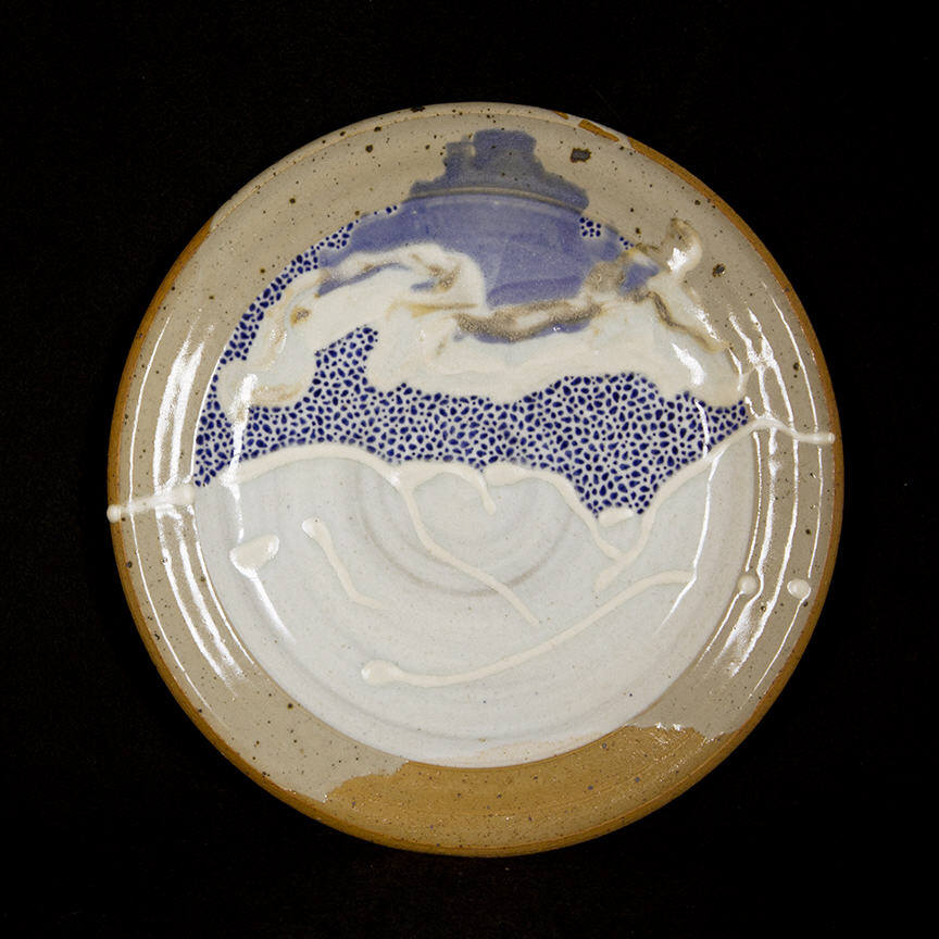 Penada Landscape Plate 4: purchase for $650 Stoneware (circa mid-1980s-1990s)