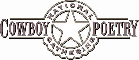 The National Cowboy Poetry Gathering logo.