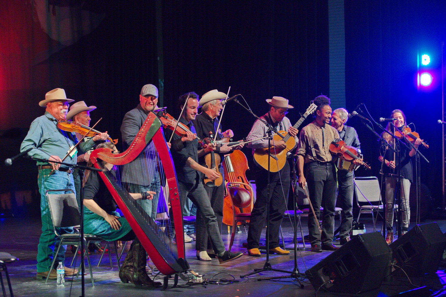 Saturday's Fiddling Around Show: the more, the merrier. Photo by Charlie Ekburg