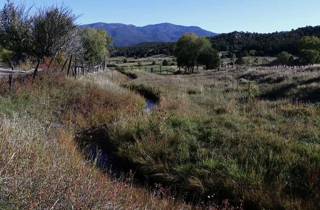 An acequia in northern New Mexico.