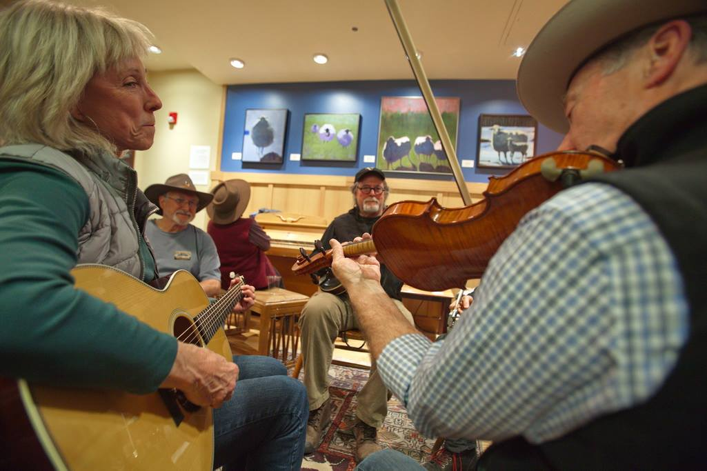 Pioneer Saloon Jam Sessions and Sing-Alongs, led by Liz Dreisbach and Eugene Jablonsky.