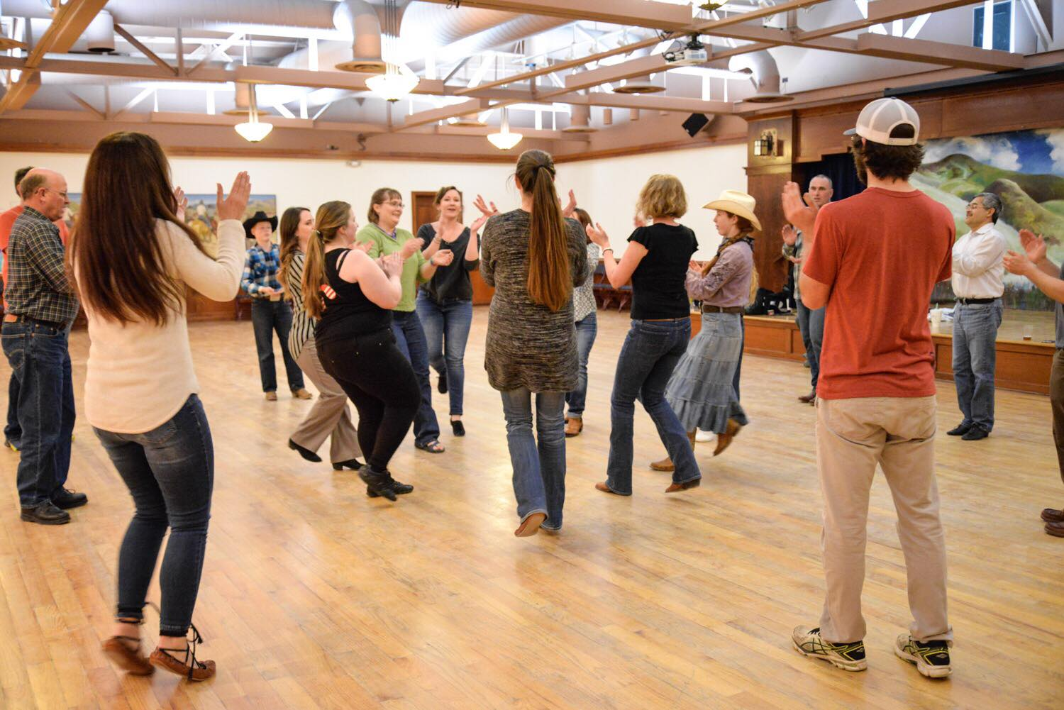 Basque dancing lessons at Let's Dance!, photo by Amber Adeline.
