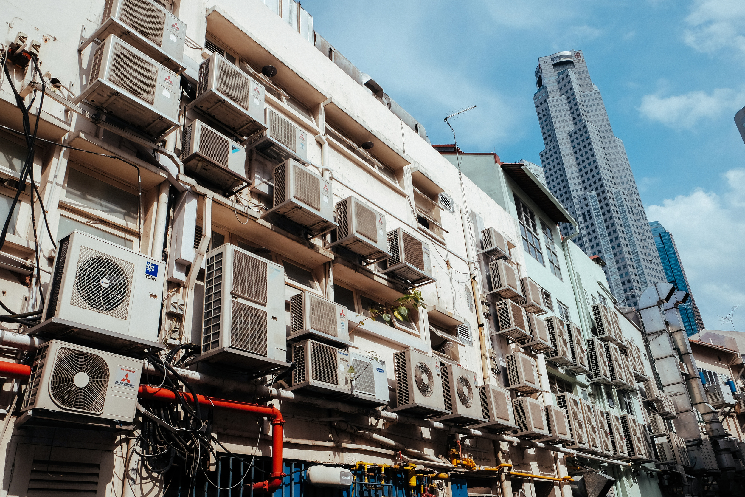 "What of the turbines that cool Singapore's numerous shopping malls and homes? ""Too hot to sleep without air-con!"""