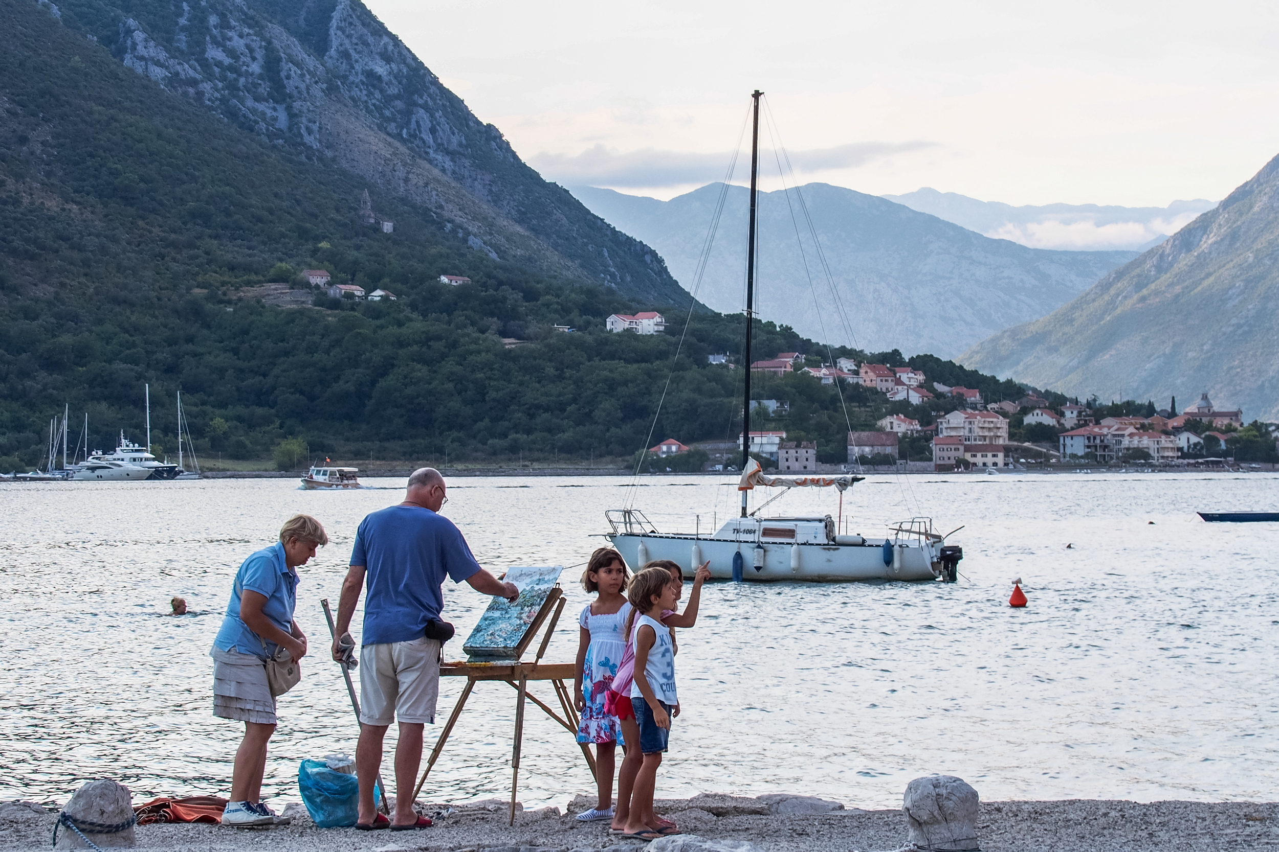 A family portrait in the Bay of Kotor
