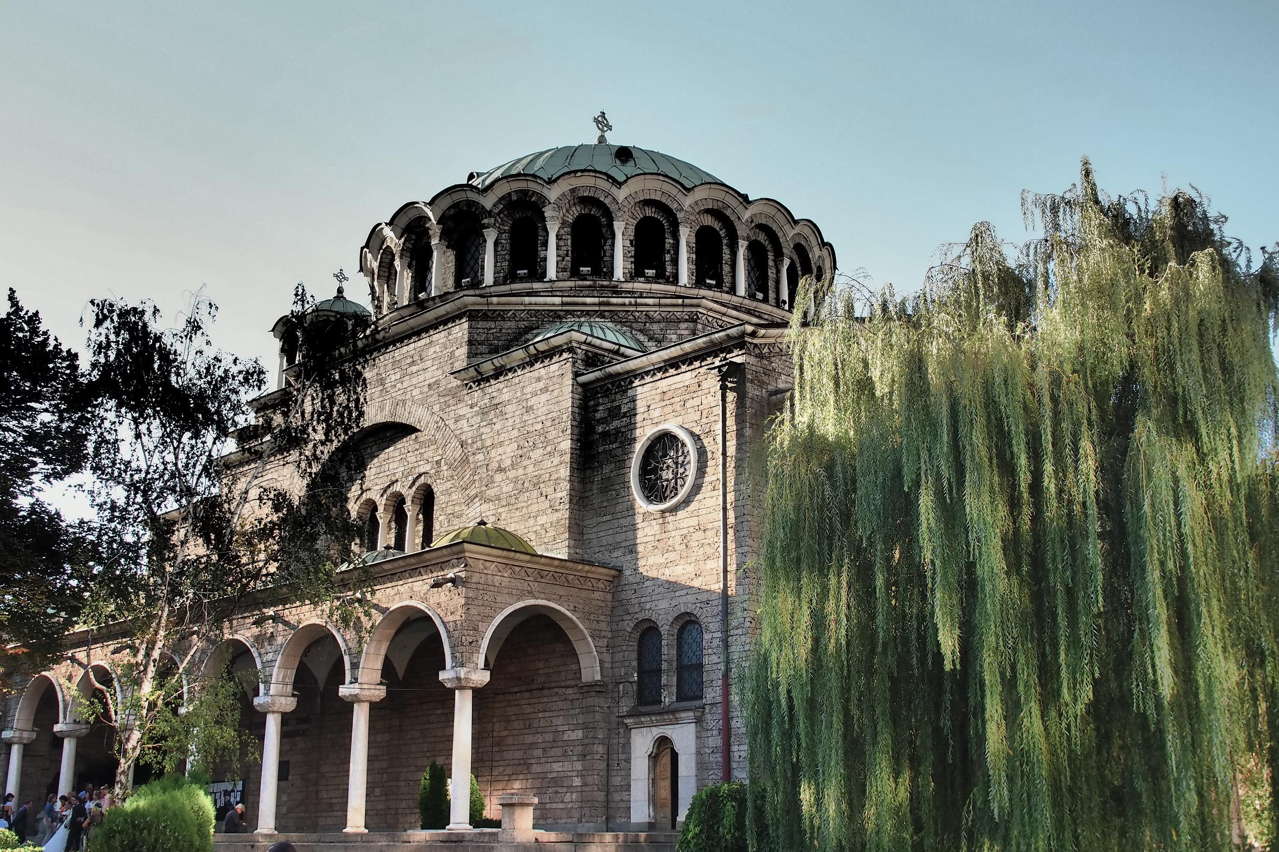 The Sveta Nedelya Church, built above the crossroads of ancient Serdica.