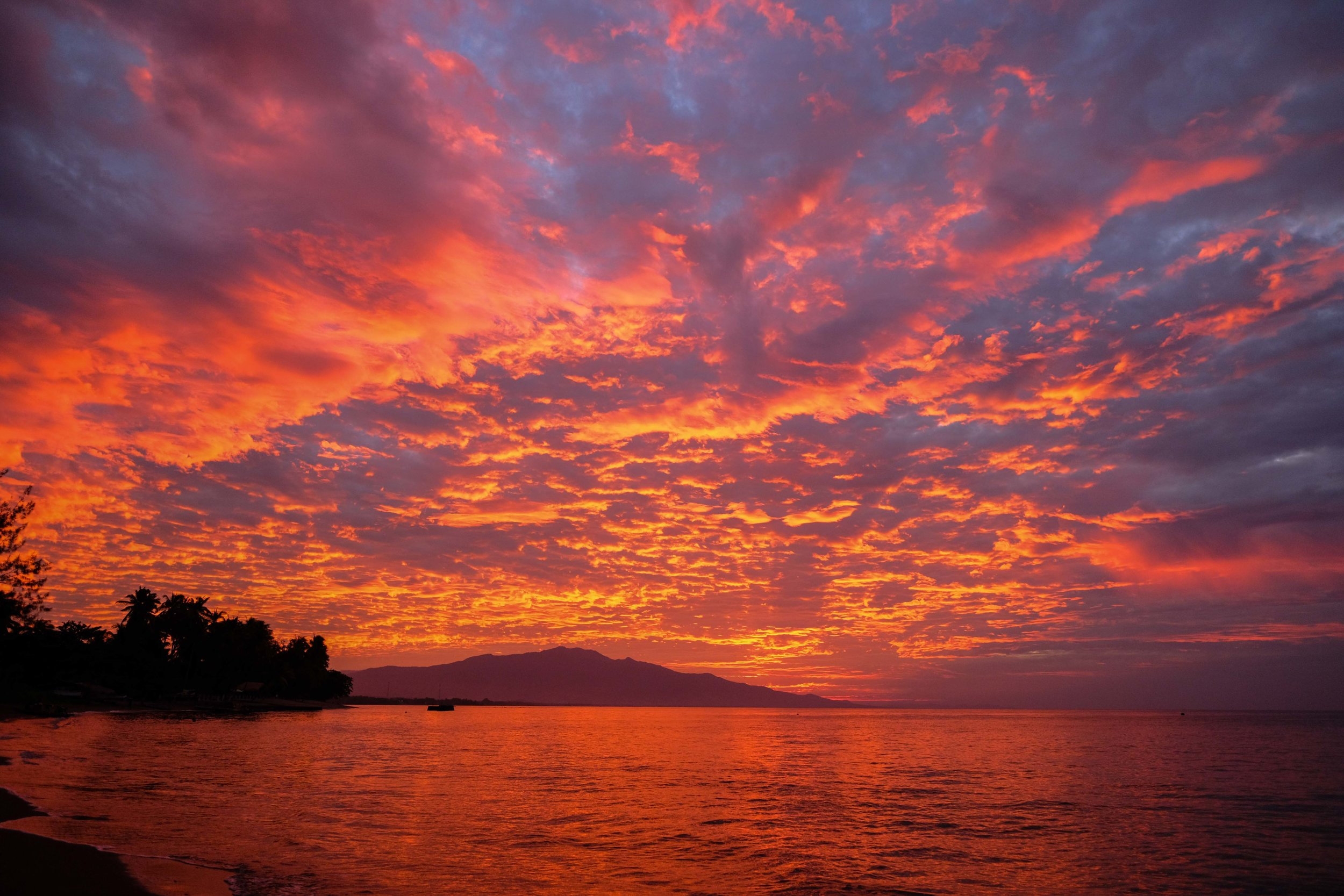 An incredible sunset over Maumere, on the east coast of Flores