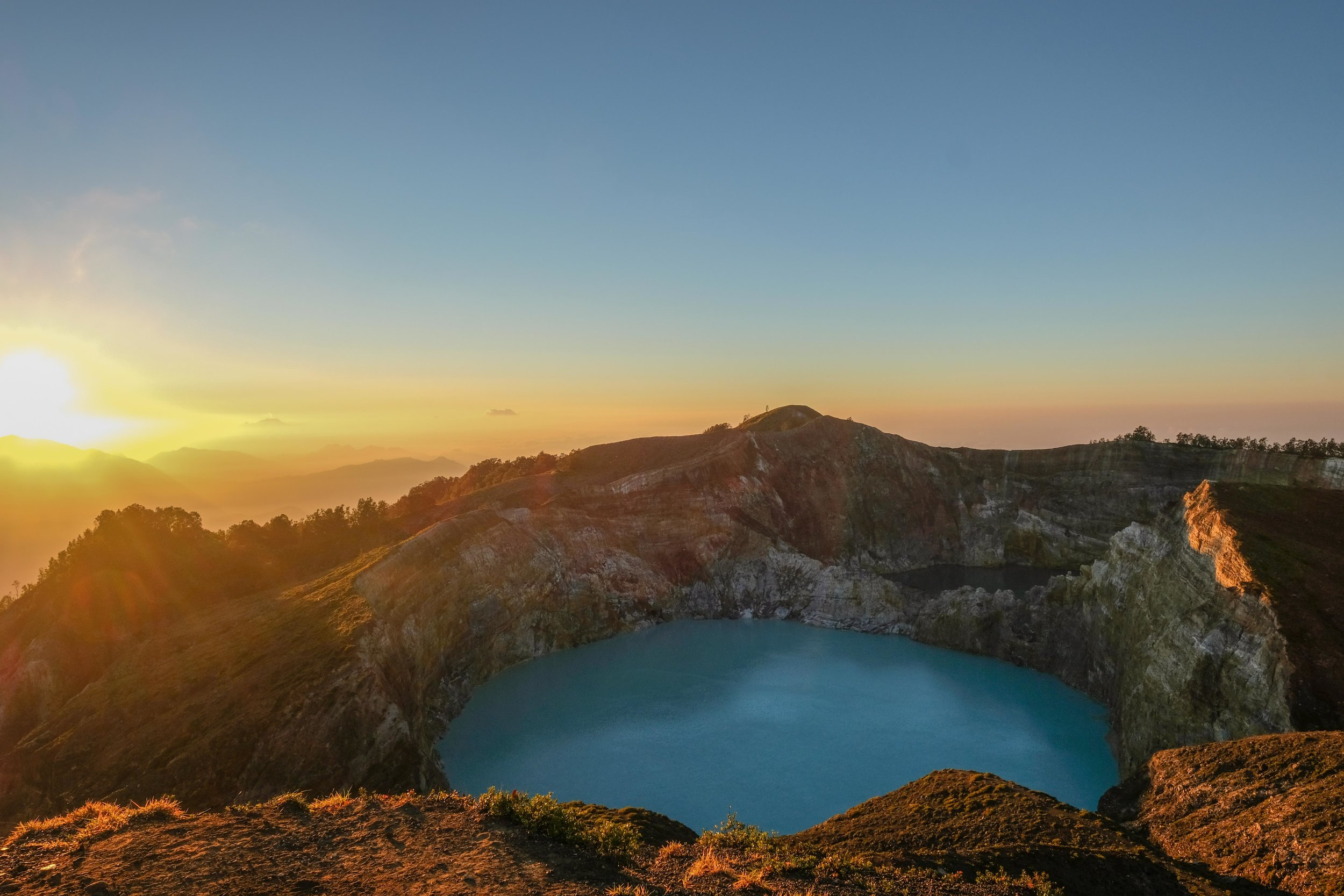 Mt Kelimutu sunrise