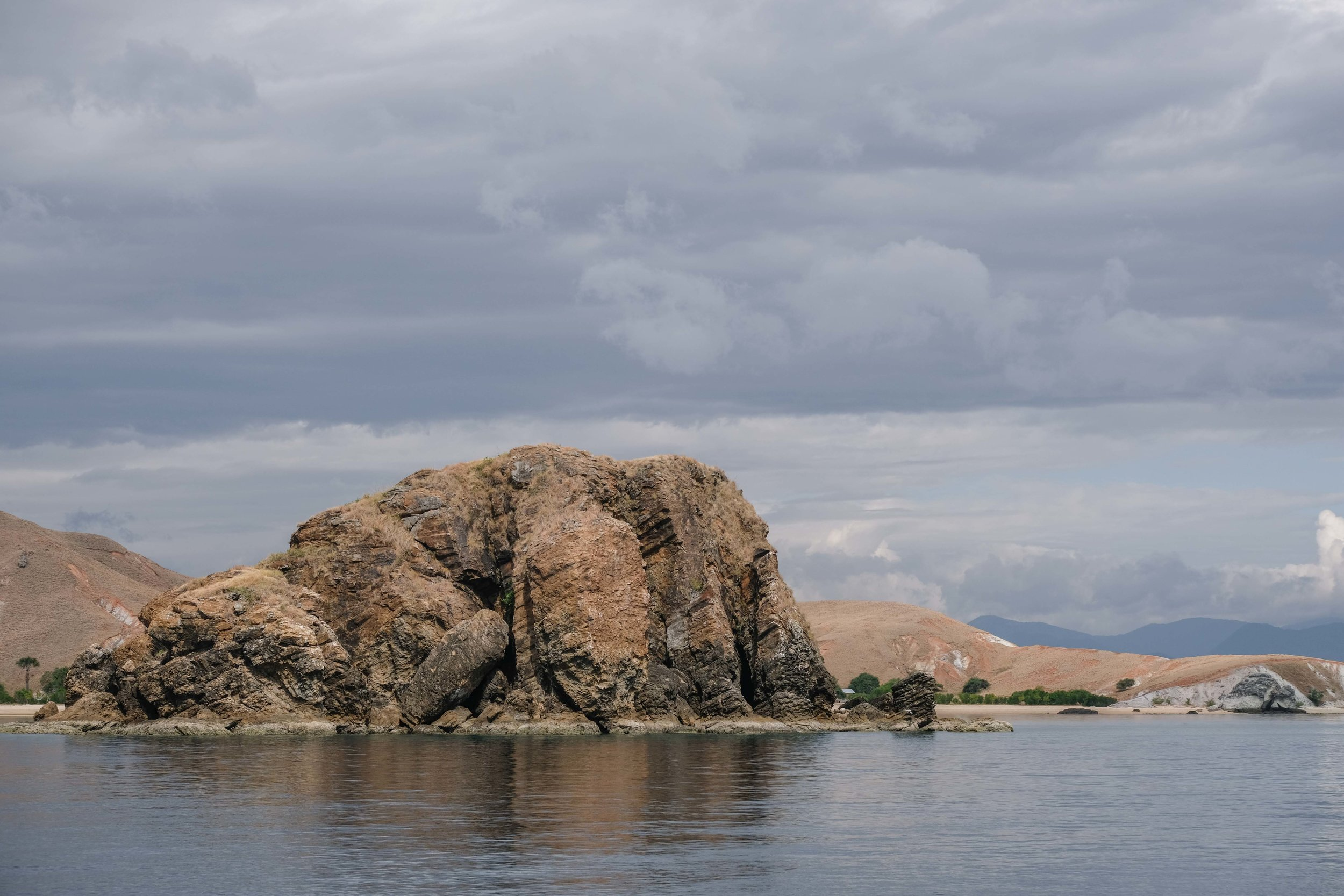 One of the many rocky outcrops and islands that dot the dry, yet devastatingly beautiful landscape of Komodo National Park
