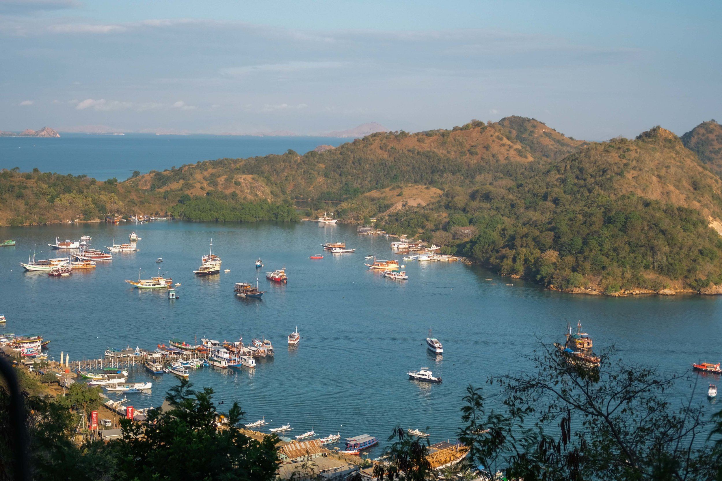 The port of Labuan Bajo in early morning light