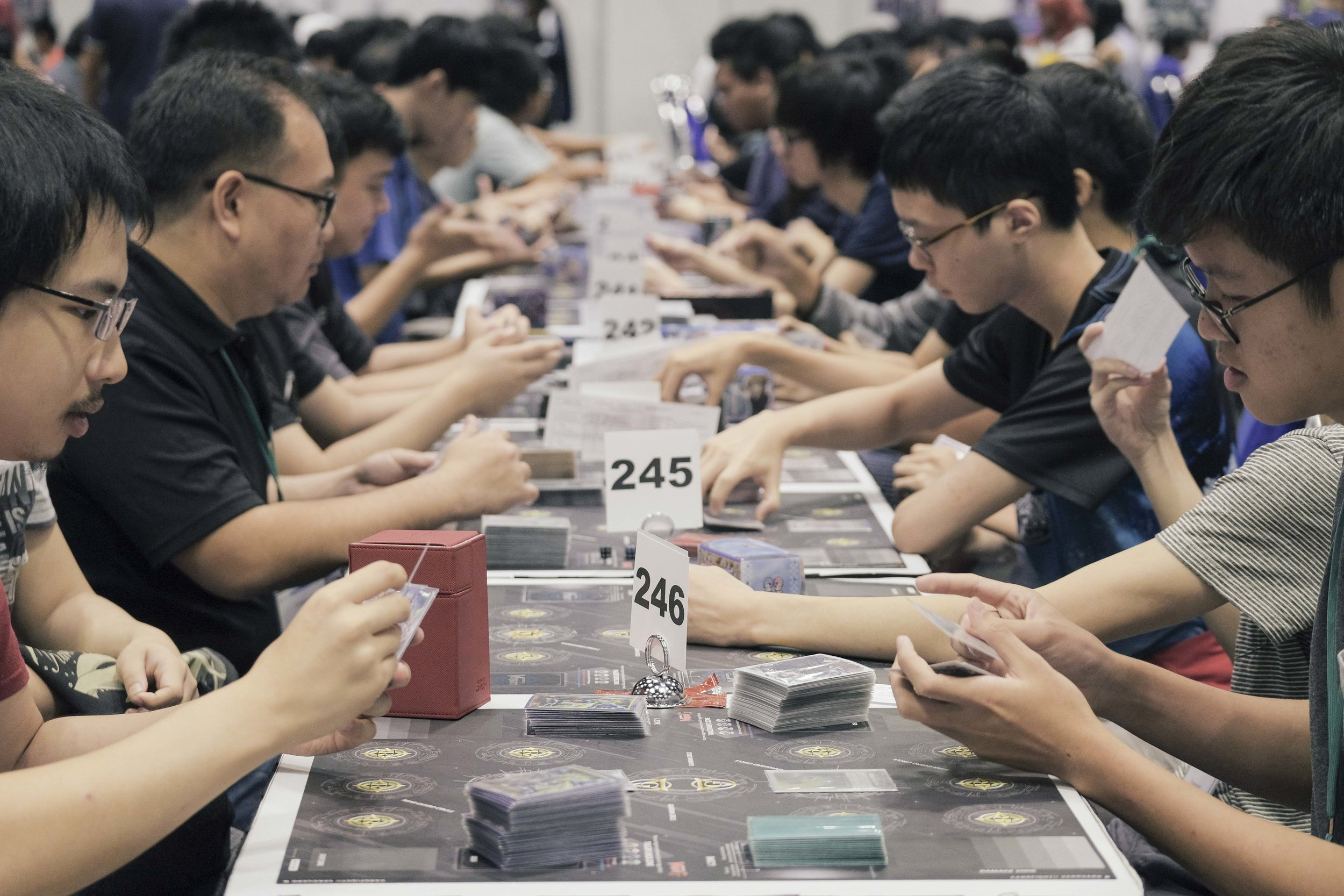 """It's all about beating and winning as many of your opponent's cards as possible."" - Vanguard competitor. Photo: Marc Nair"