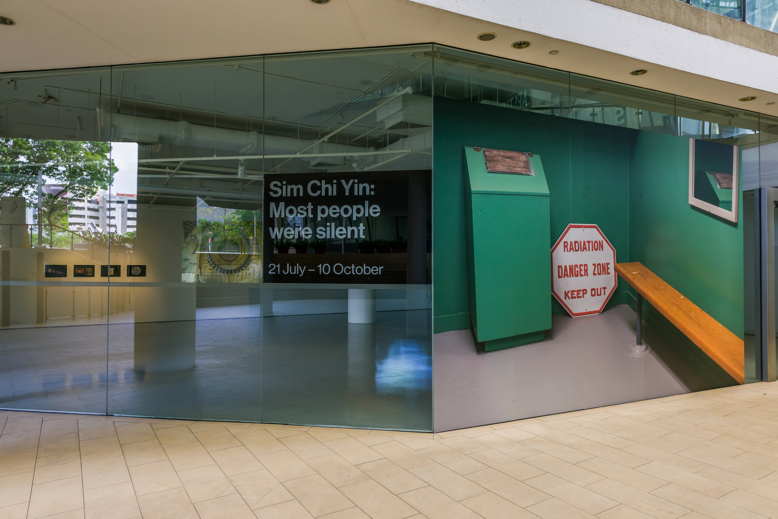 Exterior of Sim Chi Yin's exhibition at LASALLE. Photo credit: Deng Weizhong