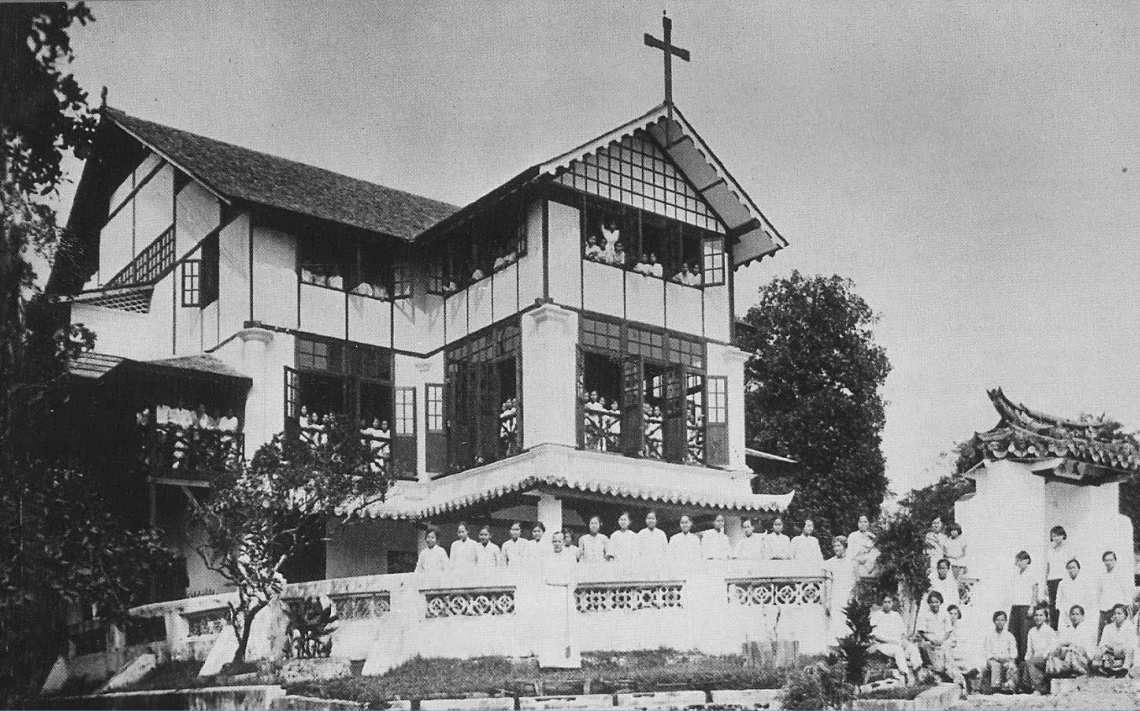 The Marian of yore - St Mary's Boarding House circa 1933. Photo: http://themarian.com.my/the-marian-story/