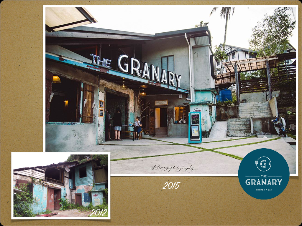 Photo of The Granary, then and now: Courtesy of Rosemarie Wong