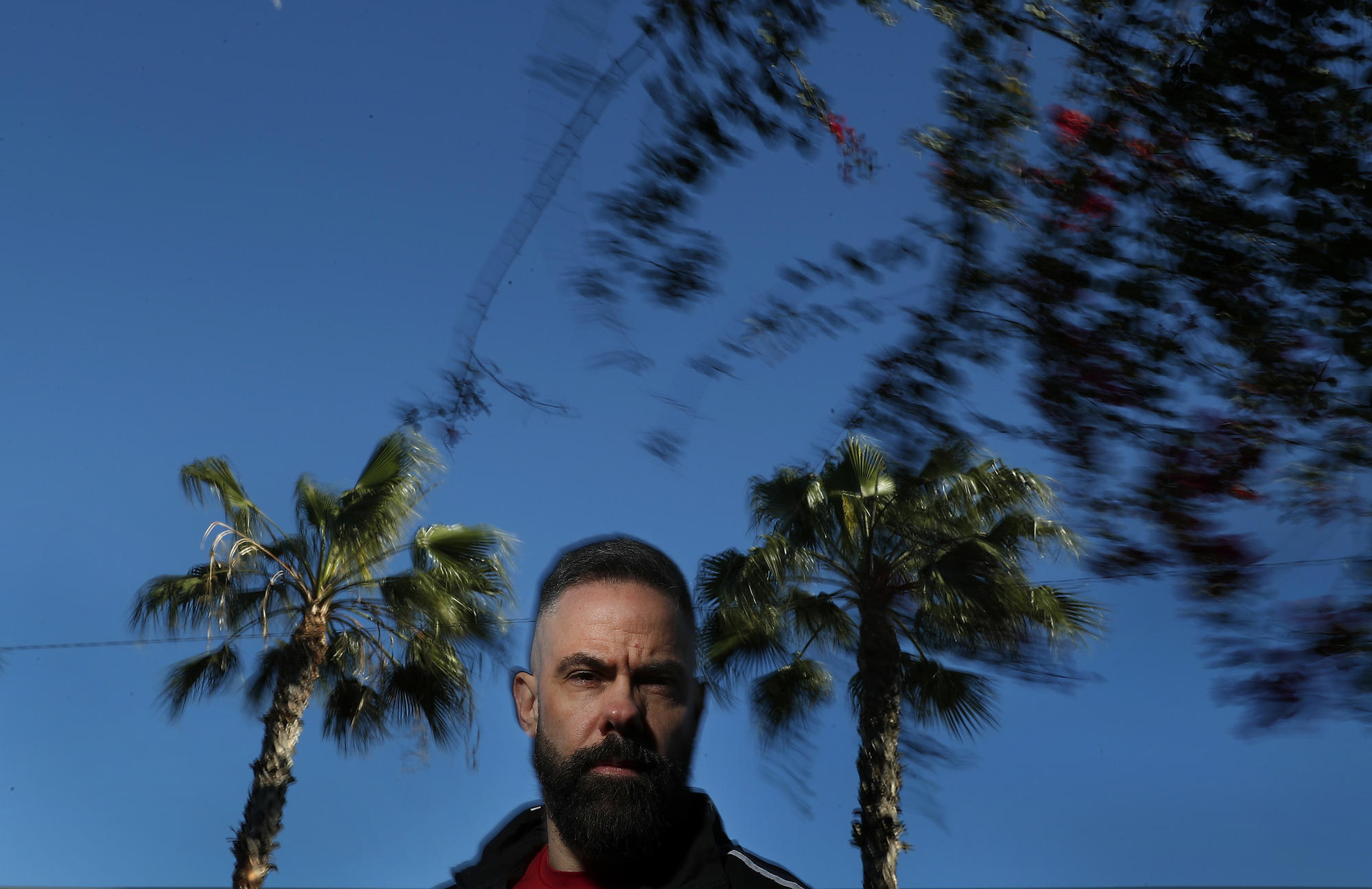 Storm chaser Josh Morgerman in Los Angeles. Photo by Mel Melcon / Los Angeles Times