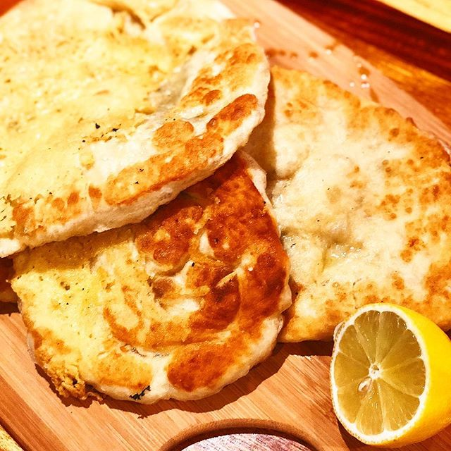 VEGAN NAAN BREAD so delicious with fresh lemon and hit of Vitamin C. Stay Flu free this winter... stay tuned for super drink to keep you feeling your best.