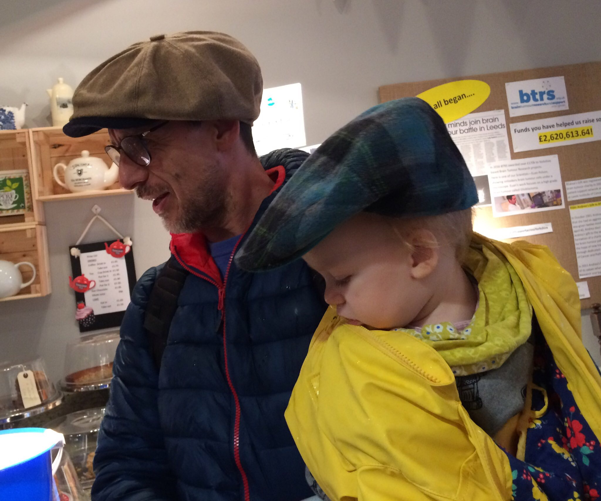 Even the little ones got involved at the BTRS shop in support of Flat Cap Friday