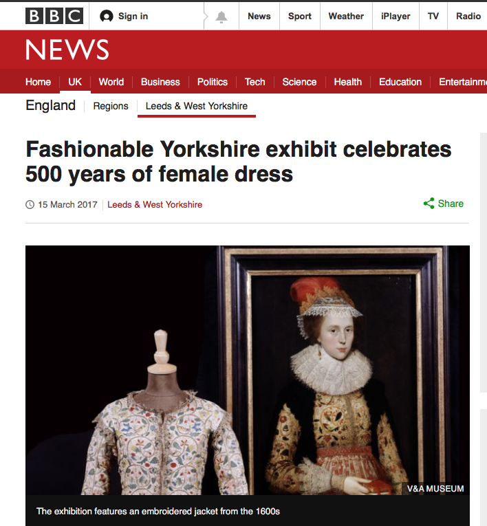 Fashionable Yorkshire- five centuries of style