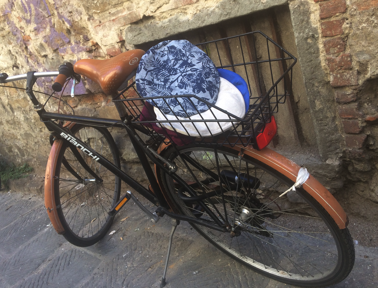 Linen Caps in a Bicycle