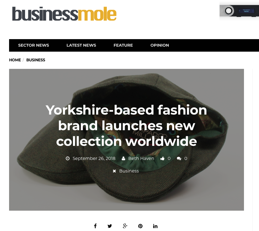 business mole feature kempadoo millar british made headwear