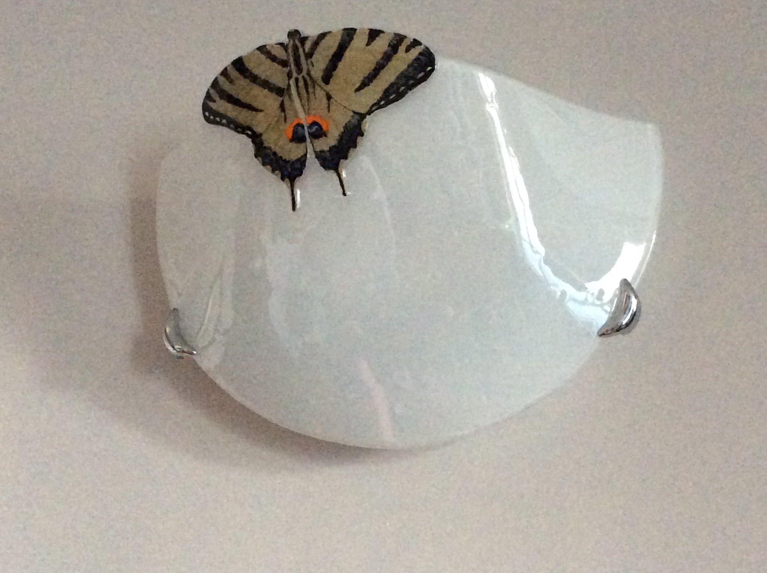 Applique in vetro fusione e decoro.