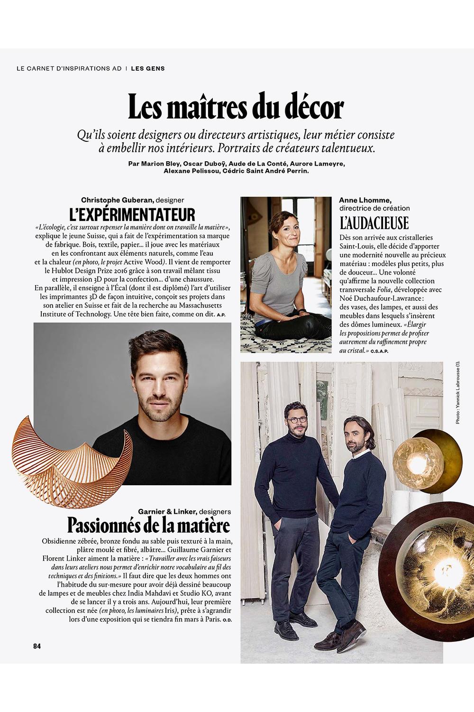Garnier&Linker in AD N°140