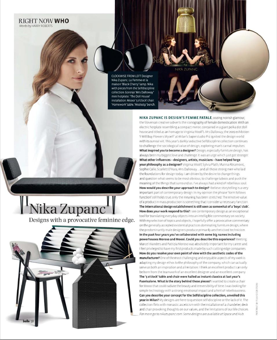 Belle Magazine, Australia 2014