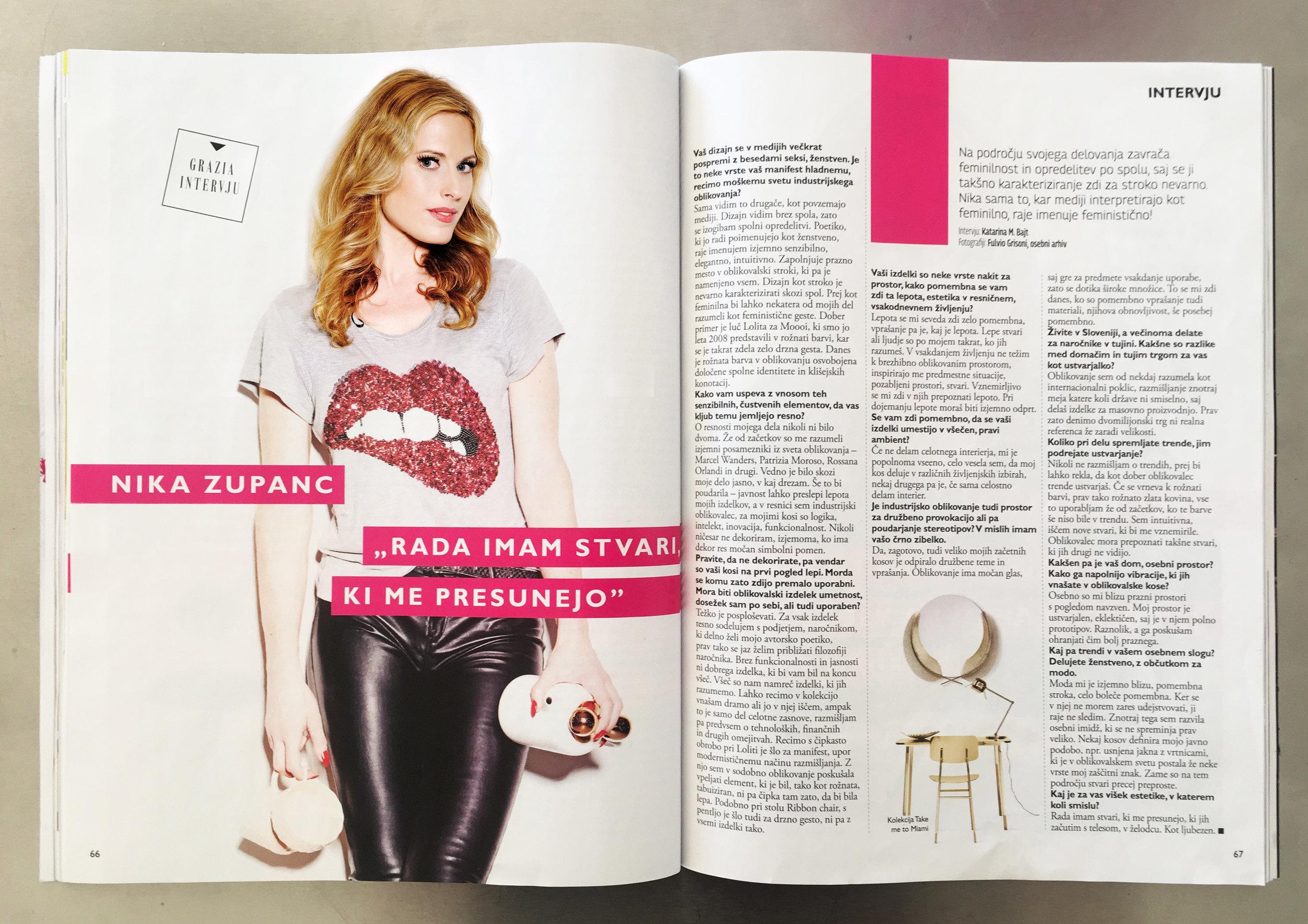 Grazia magazine, 2019